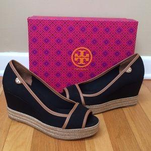 8549786e8 Tory Burch Shoes - ⬇️TORY BURCH  Majorca  Platform Peep Toe Wedges